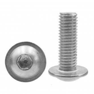 M8x60 ISO 7380 MF A2 śruba kulista na imbus z podkładką