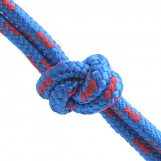 Lina polipropylenowa pleciona 4mm niebieska