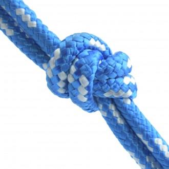 Lina polipropylenowa pleciona 6mm niebieska