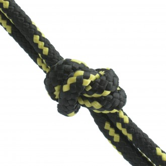 Lina polipropylenowa 8mm czarna/żółta