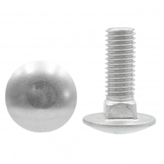 M8x130 DIN 603 A2 śruba nierdzewna zamkowa