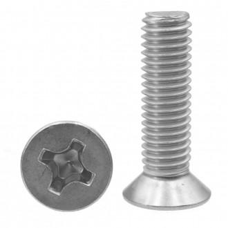 M1,6x8 DIN 965 A2 wkręt nierdzewny stożkowy na krzyżak