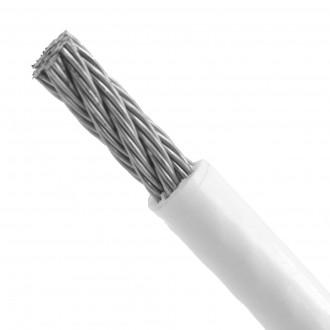 5/7 mm Lina nierdzewna splot 7x7 w oplocie PVC