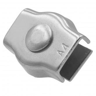 Ø 4mm zacisk rynienkowy pojedynczy nierdzewny