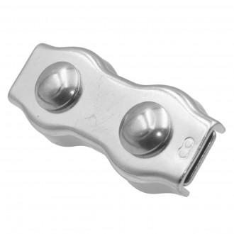Ø 6mm zacisk rynienkowy podwójny nierdzewny