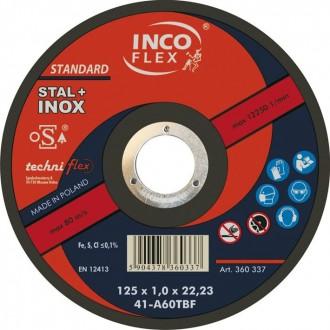 Tarcza do cięcia INOX 125x1,0x22