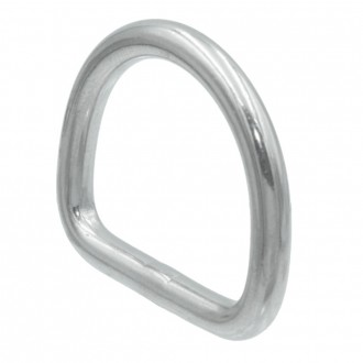 Półkółko D-ring kwasoodporny Ø 6x50mm