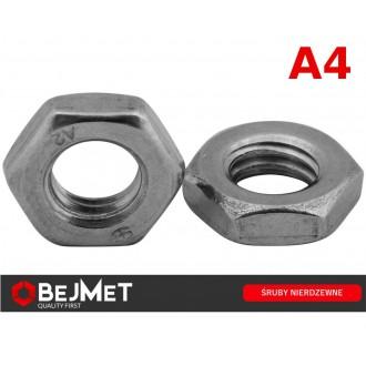 Nakrętka niska kwasoodporna M10 DIN 439 A4
