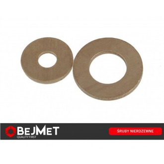 Podkładka mosiężna płaska M10 DIN 125