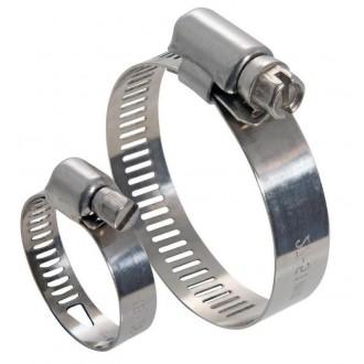 Obejma ślimakowa nierdzewna DIN 3017 W5 70-90 / 9mm