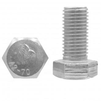 M8x12 DIN 933 A2 śruba nierdzewna sześciokątna