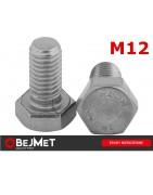 Śruby nierdzewne sześciokątne DIN 933 A2 M12 INOX bejmet.com.pl/sklep