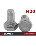 Śruby nierdzewne sześciokątne DIN 933 A2 M20 INOX bejmet.com.pl/sklep