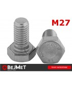 Śruby nierdzewne sześciokątne DIN 933 A2 M27 INOX bejmet.com.pl/sklep